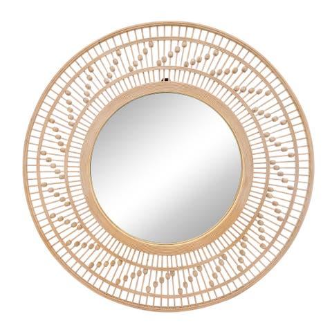 """36"""" Bamboo Wall Mirror, Natural"""