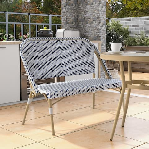 Furniture of America Ariel Natural Tone Patio Bench