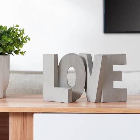 LOVE Block Letters Decor
