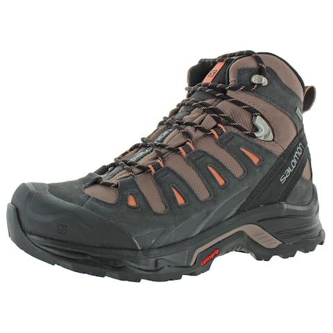 Salomon Womens Quest Prime GTX Hiking Boots Leather Ankle - Deep Taupe/Phantom/Tawny Orange