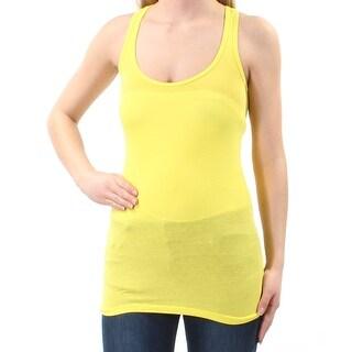 PLANET GOLD $7 Womens New 1289 Yellow Sheer Sleeveless Top XS Juniors B+B