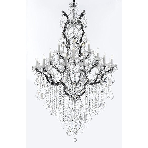 Shop swarovski c baroque crystal trimmed iron crystal chandelier swarovski c baroque crystal trimmed iron amp crystal chandelier aloadofball Image collections