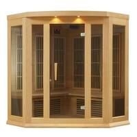 Maxxus MX-K356-01 3-person Carbon Infrared Corner Wood Sauna