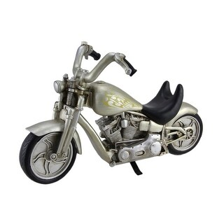 River's Edge Hand Painted Silver Motorcycle Wine Bottle Holder