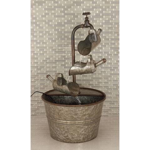 Grey Iron Farmhouse Fountain 28 x 15 x 15