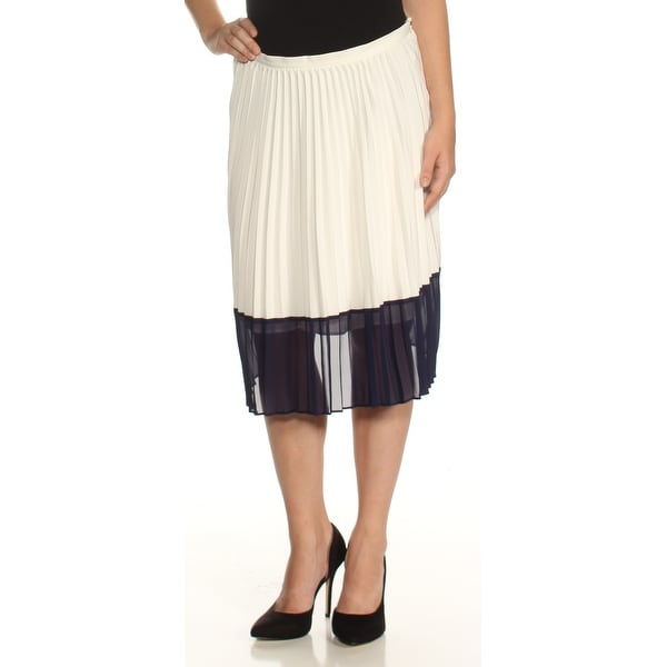 6ae5264f44 Shop Ralph Lauren Womens Ivory Color Block Midi Accordion Pleat Skirt Size:  2 - On Sale - Free Shipping On Orders Over $45 - Overstock - 24084403