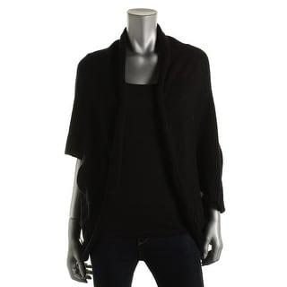 Zara Knit Womens Wool Blend Open Front Cardigan Sweater - M
