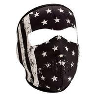ZANheadgear Neoprene Full Mask  Black-White Vintage Flag - WNFM091