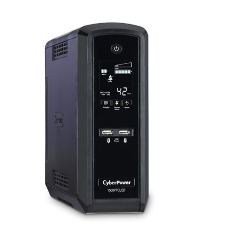 CyberPower PFC Sinewave UPS System, 1500VA/900W, 10 Outlets, AVR, Mini-Tower