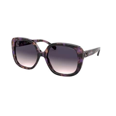 Coach HC8292F 561236 56 Purple Tortoise Woman Square Sunglasses