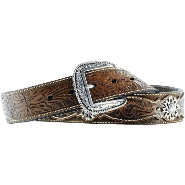 Ariat Western Belt Mens Leather Rowel Brown Oiled Rowdy
