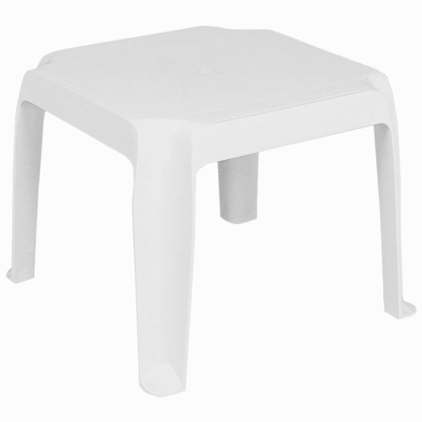 Sunray Resin Square Side Table [Set of 2] - White