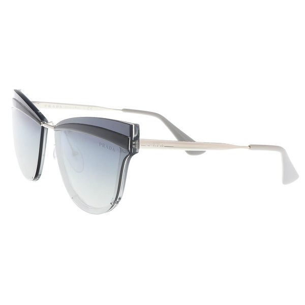 c6ddb94bba Shop Prada PR 12US KI53A0 Grey Cat Eye Sunglasses - 65-16-140 - Free  Shipping Today - Overstock - 22818037