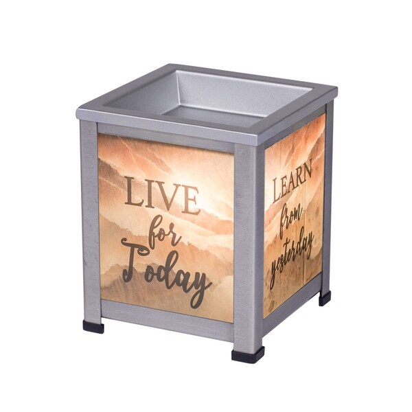 """5"""" Gray Live and Learn Printed Interchangeable Warmer - N/A"""