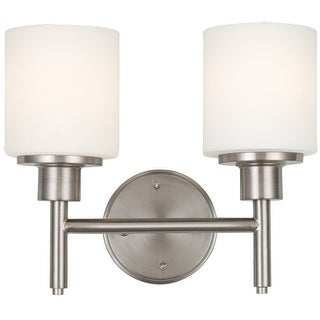 Design House 556191 Aubrey Indoor Wall Mount 2-Light Fixture, Satin Nickel