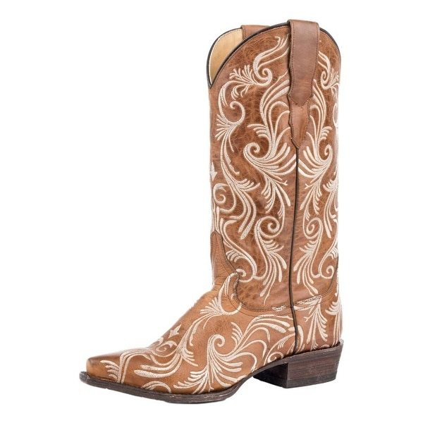 Stetson Western Boots Womens Willow Leather Snip