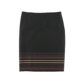 Studio M Womens Coralie Striped Below Knee Pencil Skirt - XL