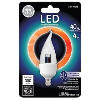 GE Lighting 89949 Dimmable Decorative LED Light Bulb, 4 Watts