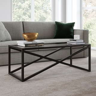 Link to Silver Orchid Stifter Blackened Bronze Coffee Table Similar Items in Living Room Furniture