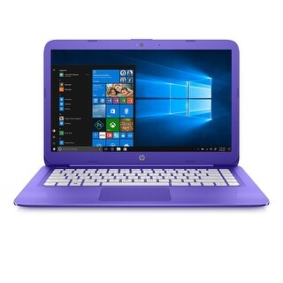 HP Stream Laptop PC 14-AX020NR 4GB RAM, 32GB eMMC, Violet Purple