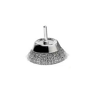 """Weiler 36420 Crimped Wire Cup Brushes, Fine, 2-3/4"""""""