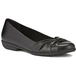 Walking Cradles Women's Fall Ballet Flat Black Leather