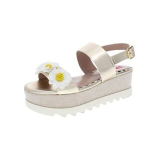 af0e8f840c28 Quick View.  37.34 -  51.35. Betsey Johnson Womens Pipper Wedge Sandals  Faux Leather Metallic