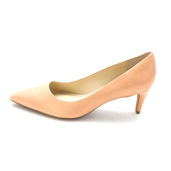 Franco Sarto Womens Discreet Leather Pointed Toe Classic Pumps