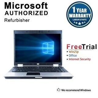 Refurbished HP EliteBook 8530W 15.4'' Laptop Intel Core 2 Duo T9600 2.8G 4G DDR2 250G DVD Win 10 Pro 1 Year Warranty - Silver