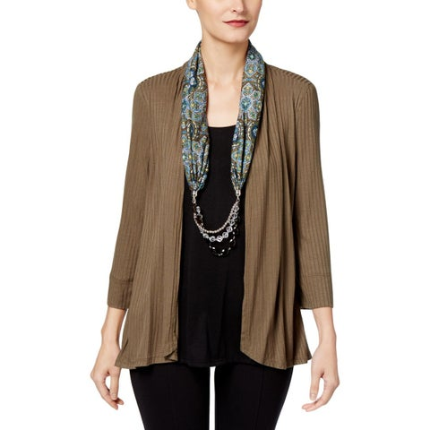 NY Collection Womens Tunic Top Layered Look Day To Night