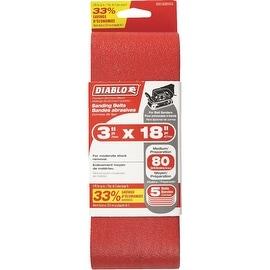 Diablo 5Pk 3X18 80G Sand Belt
