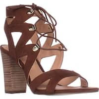 XOXO Barnie Heeled Lace Up Sandals, Tan