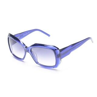 Gianfranco Ferre Women's Diamond Cut Square Sunglasses Blue - Small