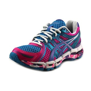 Asics Gel-Kayano 19 Round Toe Synthetic Running Shoe