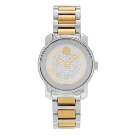 Movado Women's 'Bold' 3600256 Two-tone Stainless Steel Crystal Dial Bracelet Watch