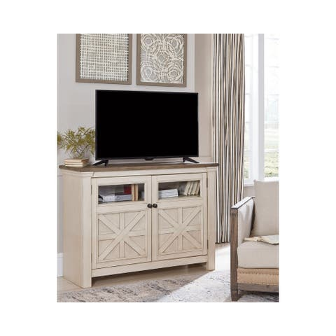 Bolanburg Antique White/ Gray Casual Medium TV Stand - 50 inches