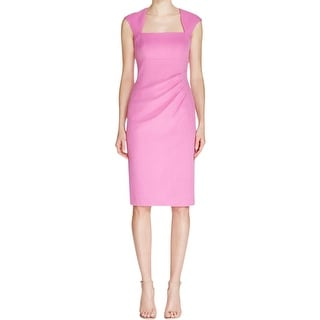 Adrianna Papell Womens Wear to Work Dress Ruched Sheath