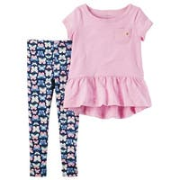 Carter's Little Girl's 2-Piece Peplum Tunic & Legging Set, 3-Toddler