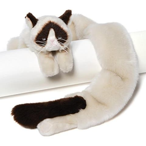 "54"" Extra Soft and Silky Grumpy Cat Plush Stuffed Animal Novelty Scarf - White - N/A"