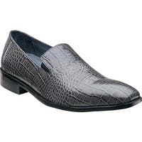Stacy Adams Men's Galindo Plain Toe Slip On 24996 Gray Leather