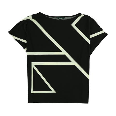 Ralph Lauren Womens Geometric Knit Blouse, black, X-Small