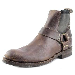 Frye Stone Harness Chelsea Men Steel Toe Leather Brown Work Boot