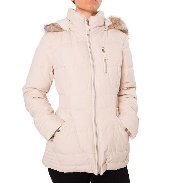 Shop Laundry By Design Womens Short Quilted Puffer Jacket Free