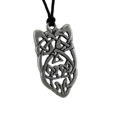 Blarney Stone Celtic Knotwork Pewter Pendant To Attract Eloquence In Speaking - One Size