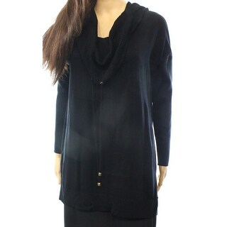 Cable & Gauge NEW Black Womens Size XL Cowl Neck Solid Pullover Sweater