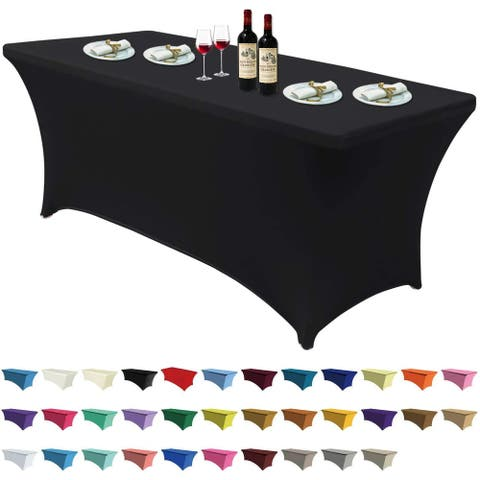 6 ft Home Rectangular Table Fitted Stretch Table Cover