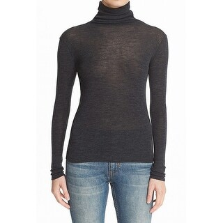 Vince NEW Black Womens XS Wool Seamed Turtleneck Long Sleeve Knit Top