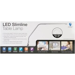 Slimline LED Table Lamp-Brushed Chrome