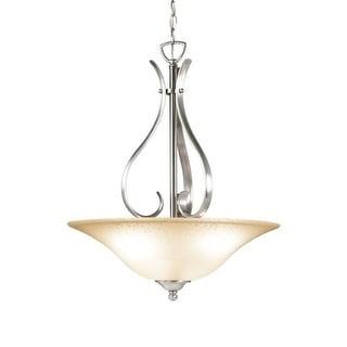 Woodbridge Lighting 21018 Beaconsfield 3 Light Satin Nickel Pendant - Grey