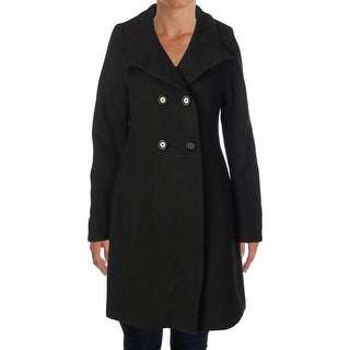 Elie Tahari Womens Pina Military Jacket Wool Double-Breasted